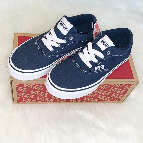 Vans Doheny Kids Skate Shoes Navy Blue